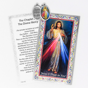 Divine Mercy Medal & Prayer Card.