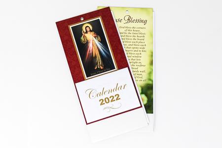 Divine Mercy Standing Calendar 2022.