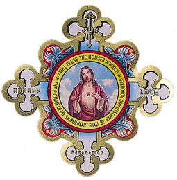 Door Shield Depicting the Sacred Heart of Jesus.