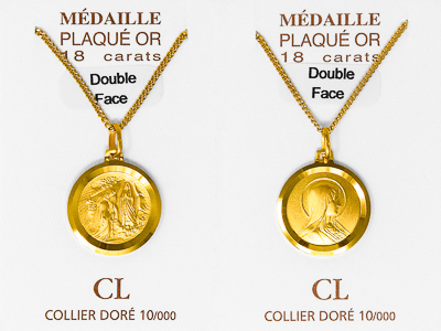 Double Faced Our Lady of Lourdes Necklace.