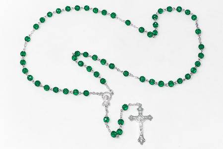 May Birthstone Rosary.