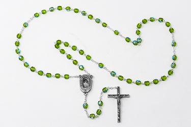 Emerald Bohemia Crystal Rosary Beads.
