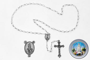 Fatima Rosary Crystal Beads & Fatima Rosary Box.