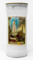 Pillar Candle - Our Lady of Fatima.