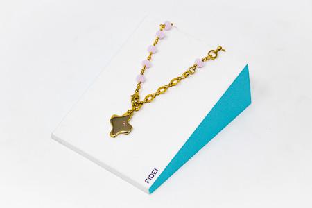 Fidei Religious Pink Bracelet.