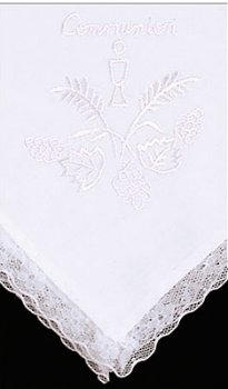 First Communion Handkerchief.