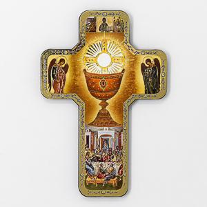 First Communion Laminated Cross.