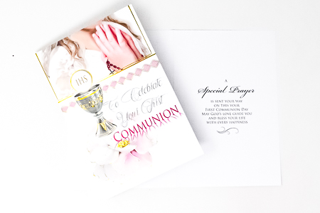 Holy Communion Card for a Girl.