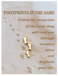 Brooch - Footprints in the Sand.