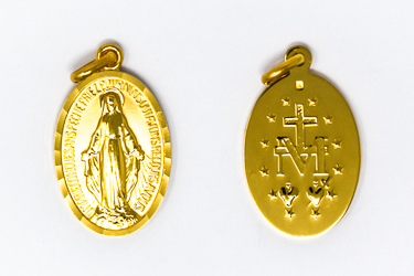 Large Gold Miraculous Medal.