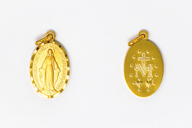 Gold Miraculous Medal.
