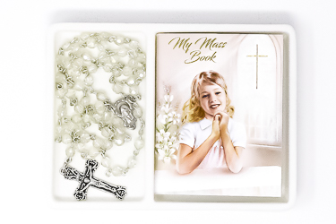 Girl's Communion Rosary & Prayer Book..