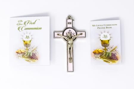 Girl's Communion Metal Crucifix.