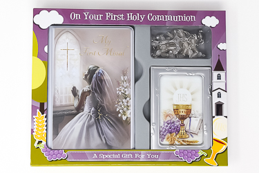 Girls First communion gift set.