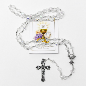 Rosary and Prayer Card.