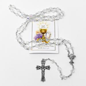 Rosary and Prayer Card.