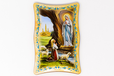 Glossy Lourdes Wall Plaque.