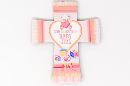 God Bless This Baby Girl Cross.