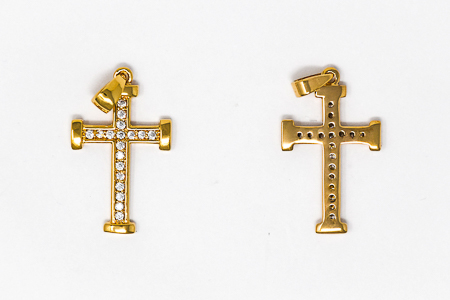 Gold Plated Cross Pendant.