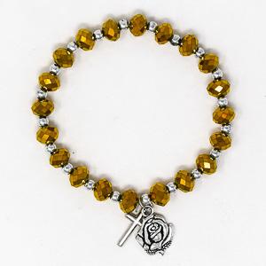 Gold Rosary Bracelet.