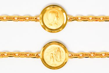 Lourdes Apparition Medal Bracelet.