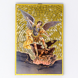 Mosaic Wall Plaque St Michael Guardian Angel.