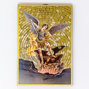 Mosaic Wall Plaque St Michael Guardian Angel.