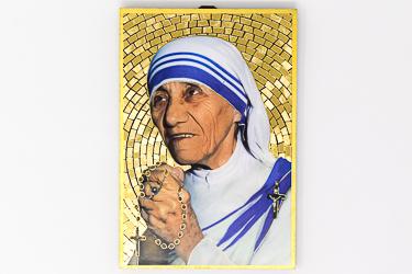 Mosaic Wall Plaque Mother Teresa.
