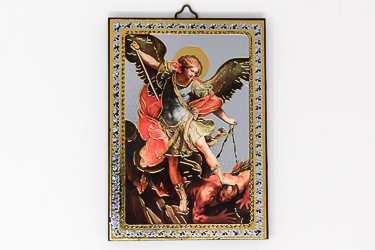 St Michael Guardian Angel Icon Wall Plaque.
