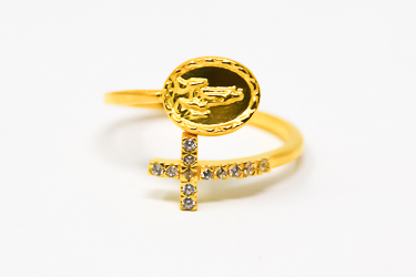 Our Lady of Fatima Gold Apparition Ring.