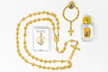 Gold Rosary Gift Set.