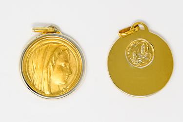Gold Virgin Mary Medal