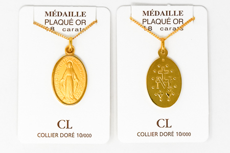 Gold Miraculous Necklace.