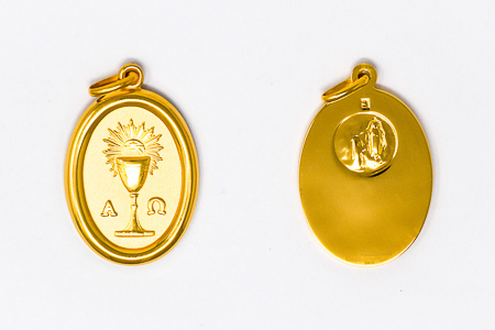 Gold Oval Chalice Medal.