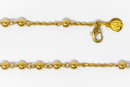 Apparition Gold Rosary Bracelet.