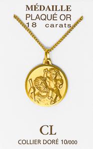 Gold Saint Christopher Necklace.