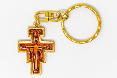 Gold St. Francis Key Ring