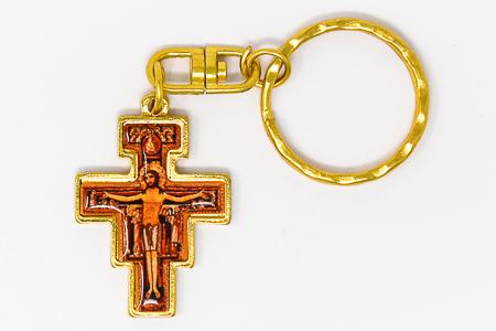 Gold St. Francis Key Ring