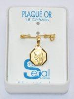 Lourdes Gold Clothes Pin.