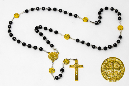 Gold St Benedict Rosary