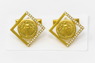 Miraculous Gold Cuff Link's.