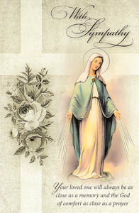Our Lady of Grace Sympathy Mass Card.