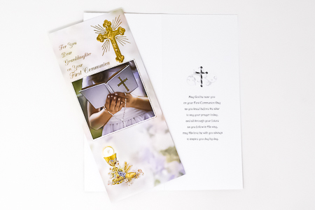 Granddaughter Communion Card Boxed.