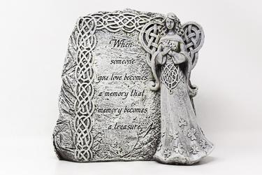 Standing Celtic Angel Graveyard Statue.