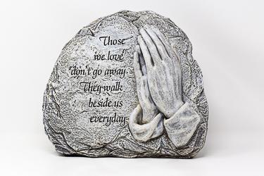 Standing Praying Hands Graveyard Statue.