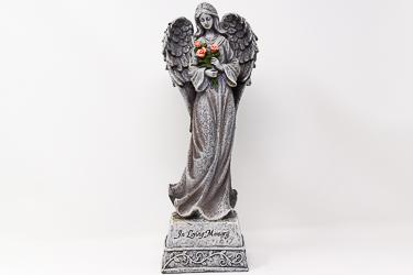 Standing Angel Graveyard Statue.