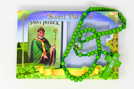 Green Corded Wooden Rosary.
