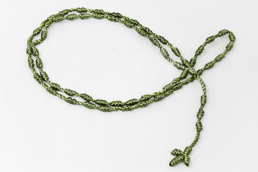 Green Knotted Rosary.