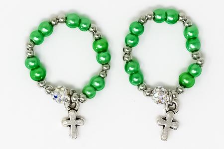 Green Rosary Ring.