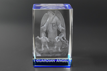 Guardian Angel Crystal Paperweight.